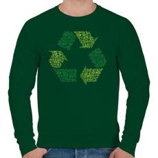 PRINTFASHION Újrahasznosítás - Férfi pulóver - Sötétzöld