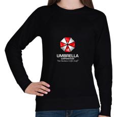 PRINTFASHION Umbrella Corp. - Női pulóver - Fekete