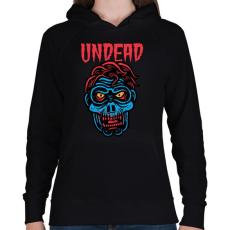 PRINTFASHION Undead - Női kapucnis pulóver - Fekete