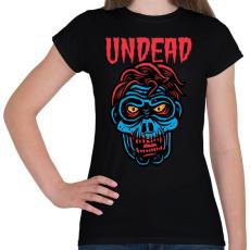 PRINTFASHION Undead - Női póló - Fekete