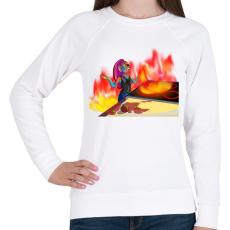 PRINTFASHION Undyne konyhája - Női pulóver - Fehér