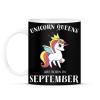 PRINTFASHION Unikornis királynők szeptemberben születnek - Bögre - Fekete