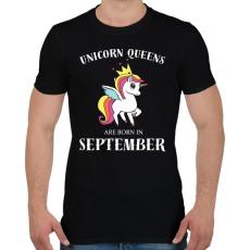 PRINTFASHION Unikornis királynők szeptemberben születnek - Férfi póló - Fekete