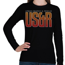 PRINTFASHION Urban Search & Rescue - Női hosszú ujjú póló - Fekete