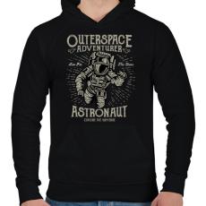 PRINTFASHION Űrhajós kaland - Férfi kapucnis pulóver - Fekete