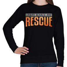 PRINTFASHION US&Rescue - Női pulóver - Fekete