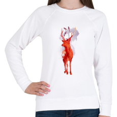 PRINTFASHION Useless deer - Női pulóver - Fehér