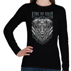 PRINTFASHION Utak királya - Női hosszú ujjú póló - Fekete