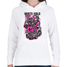 PRINTFASHION Ütős - Női kapucnis pulóver - Fehér