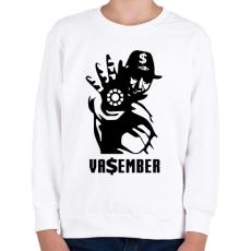 PRINTFASHION Va$ember - Gyerek pulóver - Fehér