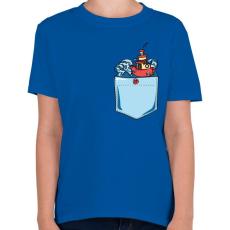 PRINTFASHION Vad hullámok - Gyerek póló - Királykék