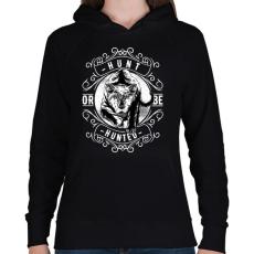 PRINTFASHION Vadász - Női kapucnis pulóver - Fekete