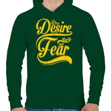 PRINTFASHION Vágy vagy félelem - Férfi kapucnis pulóver - Sötétzöld