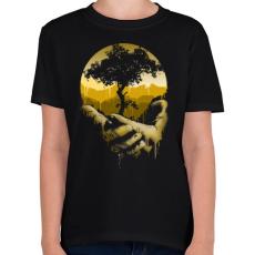 PRINTFASHION Védd a természetet - Gyerek póló - Fekete
