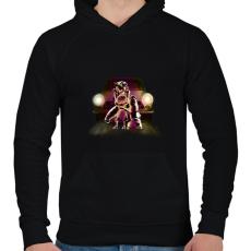PRINTFASHION Védelem - Férfi kapucnis pulóver - Fekete