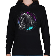 PRINTFASHION Védelem - Női kapucnis pulóver - Fekete