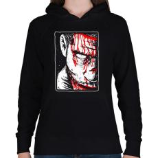 PRINTFASHION Véres zombi - Női kapucnis pulóver - Fekete