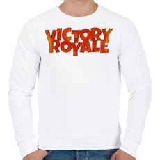 PRINTFASHION Victory Royale - Férfi pulóver - Fehér