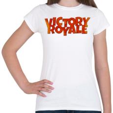 PRINTFASHION Victory Royale - Női póló - Fehér