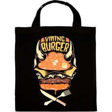PRINTFASHION Viking Burger - Vászontáska - Fekete