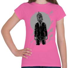 PRINTFASHION Világketrec - Női póló - Rózsaszín