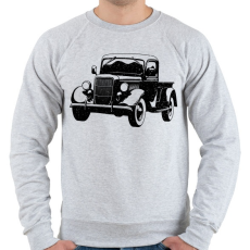 PRINTFASHION Vintage truck - Férfi pulóver - Sport szürke