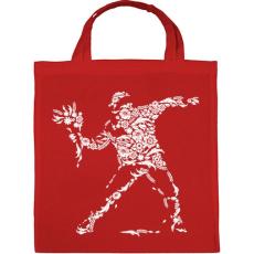 PRINTFASHION Virág vandalizmus - Vászontáska - Piros