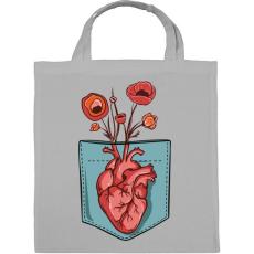 PRINTFASHION Virágzó szív - Vászontáska - Szürke