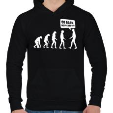 PRINTFASHION Vissza, megszívtuk! - Férfi kapucnis pulóver - Fekete
