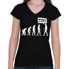 PRINTFASHION Vissza, megszívtuk! - Női V-nyakú póló - Fekete