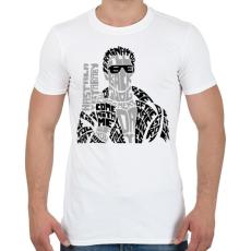 PRINTFASHION Visszatérek - Férfi póló - Fehér