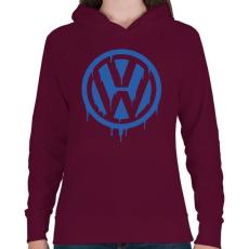 PRINTFASHION Volkswagen  - Női kapucnis pulóver - Bordó