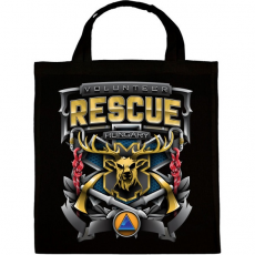 PRINTFASHION Volunteer Rescue - Vászontáska - Fekete
