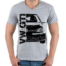 PRINTFASHION VW GTI - Férfi V-nyakú póló - Sport szürke