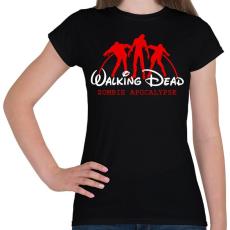 PRINTFASHION Walking Dead - Női póló - Fekete