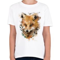 PRINTFASHION watercolor fox - Gyerek póló - Fehér