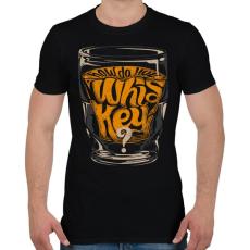 PRINTFASHION Whiskey - Férfi póló - Fekete