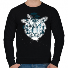 PRINTFASHION White tiger - Férfi pulóver - Fekete