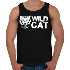 PRINTFASHION Wild Cat - Férfi atléta - Fekete