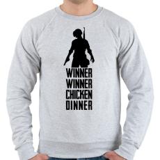 PRINTFASHION Winner Winner Chicken Dinner PUBG - Férfi pulóver - Sport szürke