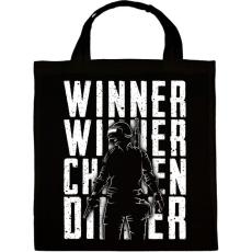 PRINTFASHION Winner Winner Chicken Dinner - Vászontáska - Fekete