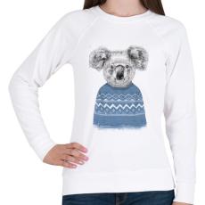 PRINTFASHION Winter koala - Női pulóver - Fehér