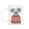 PRINTFASHION Winter koala (red) - Bögre - Fehér