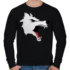 PRINTFASHION Wolf - Férfi pulóver - Fekete