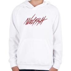 PRINTFASHION Wolfish - Gyerek kapucnis pulóver - Fehér
