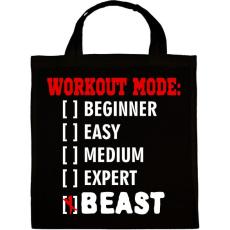 PRINTFASHION Workout mode: BEAST - Vászontáska - Fekete