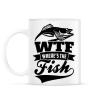 PRINTFASHION WTF horgász - Bögre - Fehér