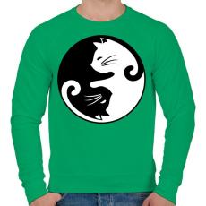 PRINTFASHION yin yang cicák - Férfi pulóver - Zöld