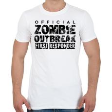PRINTFASHION Zombi apokalipszis - Férfi póló - Fehér