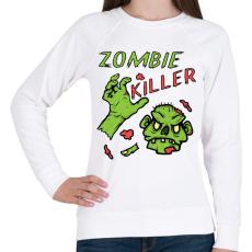 PRINTFASHION Zombie Killer - Női pulóver - Fehér